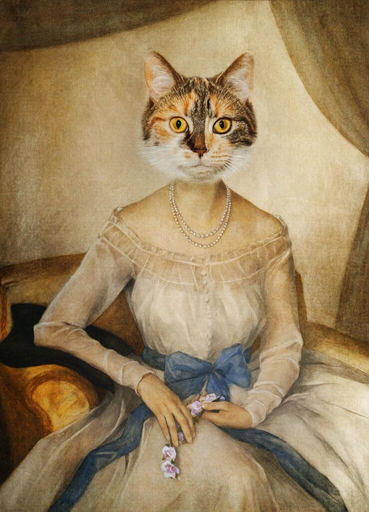 portret kota stylizowany